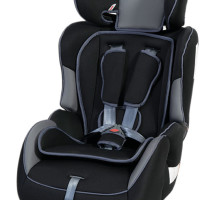 "Bambino Grand Prix Car & Booster Seat ""Black & Grey"""