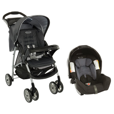 "Graco Mirage Plus Travel System ""Charcoal"""