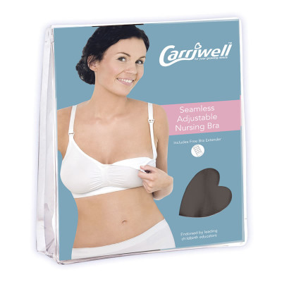 "Carriwell Seamless Adjustable Drop Cup X-Large ""Black"""