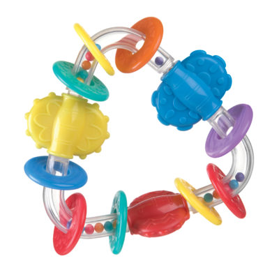"""Playgro Teething Triangle Rattle """"Pink"""""""