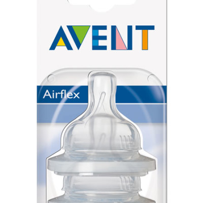 Avent Silicone Teat 3m (Assorted)