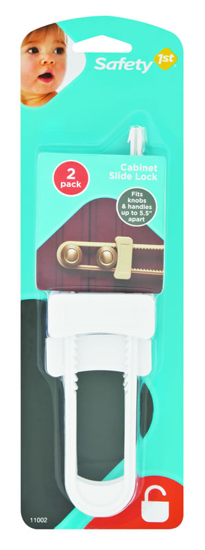 Safety First Cabinet Slide Lock 2 Pack