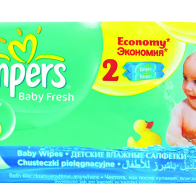 Pampers Baby Fresh Wipes 128's