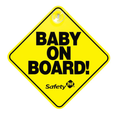 "Safety First Baby On Board ""Yellow"""