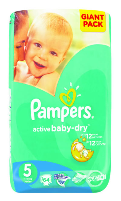 Pampers Active Baby Junior Giant Pack 64's