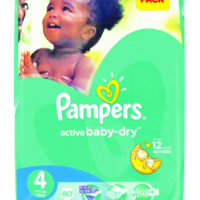 Pampers Active Baby Maxi Giant Pack 80's