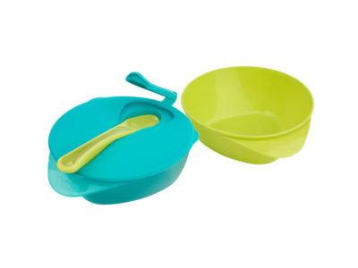 Tommee Tippee Explora  FEEDING BOWL WITH LID - Green and Blue