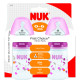 Nuk First Choice Bottle Silicone Teat Size 1 150ml Twin Pack - Cherry