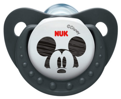 Nuk Silicone Disney Mickey Soother Size 2 - Black