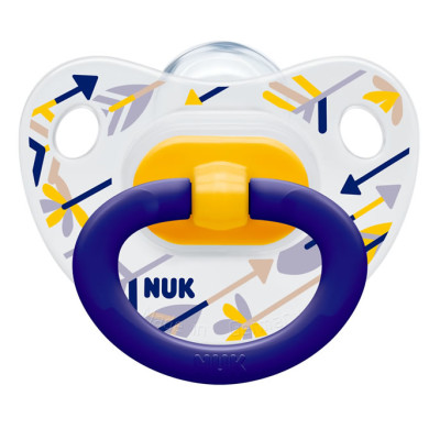 Nuk Silicone Summertime Soother - Size 3 - Boys - Arrows