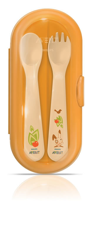 Avent Toddler Cutlery Set & Travel Case