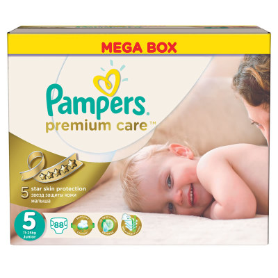 Pampers Mega Premium Junior 88's