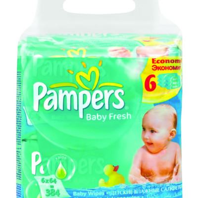 Pampers Baby Fresh Wipes 6 Pack