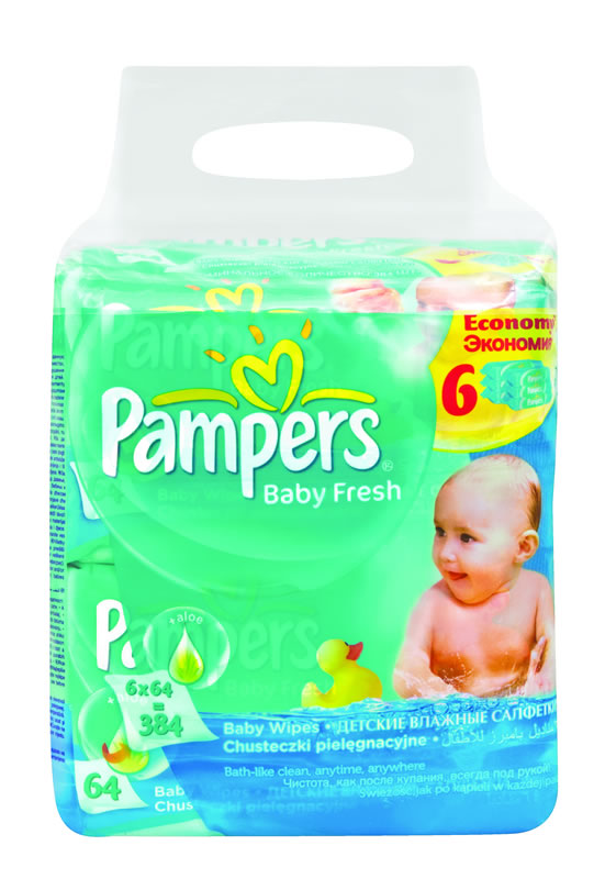 Pampers Baby Fresh Wipes 6 Pack Baby City