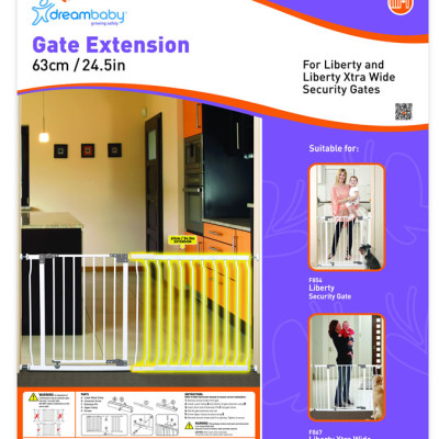 """Dream Baby 63cm Extension for Liberty Gate """"White"""""""