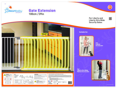 """Dream Baby 1 Meter Extension for Liberty Gate """"White"""""""