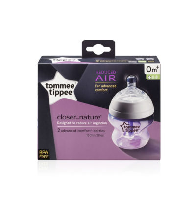 Tommee Tippee Closer to Nature Comfort Bottle 150ml 2 Pack