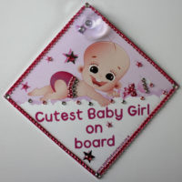 "Bling Cutest Baby Girl On Board ""Angel"""
