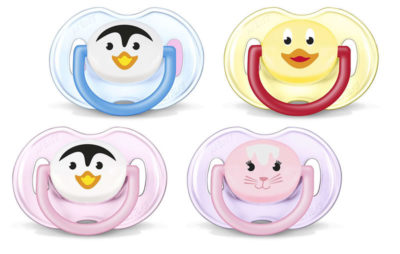"""Avent Soother 0-6m """"Animal"""" 2 Pack"""