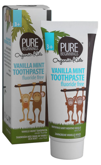 Pure Beginnings Vanilla Mint Flavoured Toothpaste With Xylitol 75ml