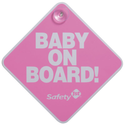 "Safety First Baby On Board ""Pink"""