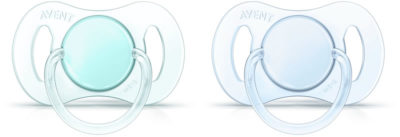 Avent Mini Soother 0-2m for Boys 2 Pack