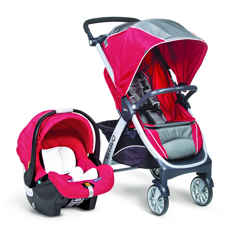"Red Chicco Car Seat >> Chicco Bravo Travel System ""Pulse"" - Baby City"