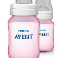"Avent Classic Bottle 260ml ""Pink"" 2 Pack"