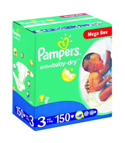 Pampers Jumbo Mega Box Midi 150's