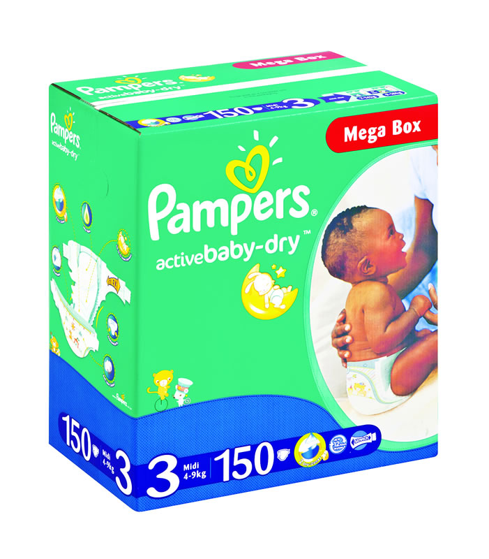 Pampers Jumbo Mega Box Midi 150 S Baby City