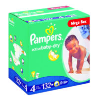 Pampers Jumbo Mega Box Maxi 132's