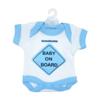 "Snookums Baby On Board ""Babygro - Blue"""
