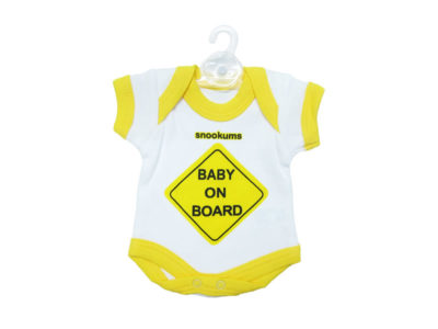 "Snookums Baby On Board ""Babygro - Yellow"""