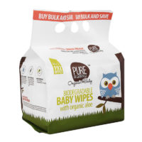 Biodegradable Wipes Organic Aloe 192's