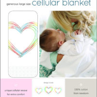 "Baby Sense Cellular Blanket Love ""White"""