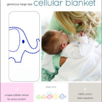 "Baby Sense Cellular Blanket Bright ""White"""
