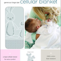 "Baby Sense Cellular Blanket Fun ""Grey"""