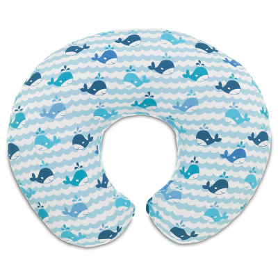 "Chicco Boppy Nursing Pillow ""Blue Whales"""