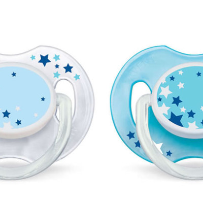 Avent Soother Night Time 6-18m 2 Pack