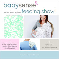 "Baby Sense Feeding Shawl ""Blue"""