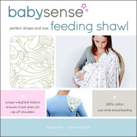 "Baby Sense Feed Shawl ""Neutral"""
