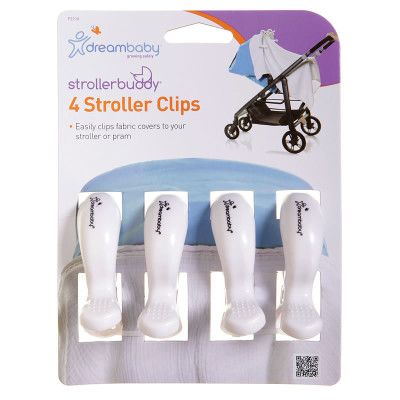 "Dreambaby Stroller Clips 4 Pack ""White"""