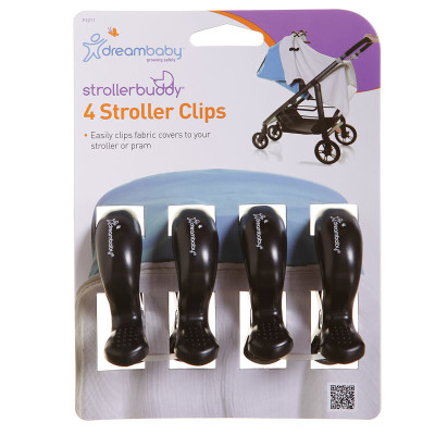 "Dreambaby Stroller Clips 4 Pack ""Black"""