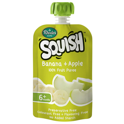 Sqush Banana & Apple Puree