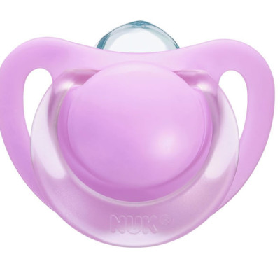 Nuk Silicone Starlight Soother Size 1 (Assorted) - Pink