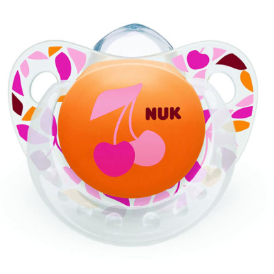 Nuk Silicone Happy Days Soother Size 1 - Cherry
