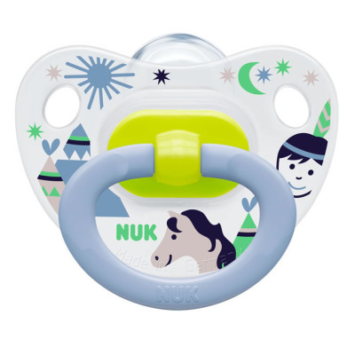 Nuk Silicone Summertime Soother Size 1 - Boys - Wild West