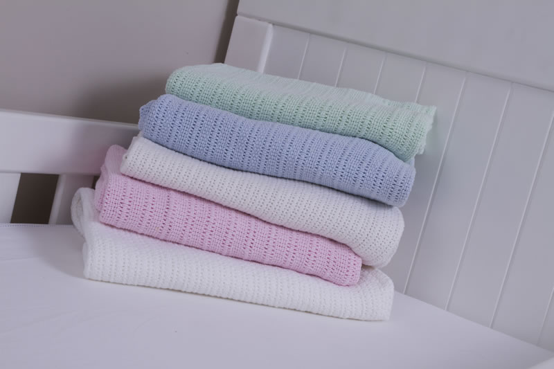 Snuggletime Cotton Cellular Blankets (Assorted Colours ...