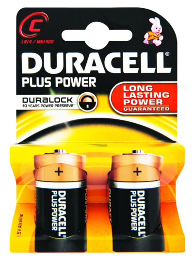 Duracell Power Plus C 2's
