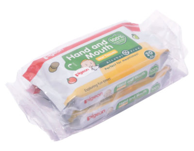 Pigeon Hand & Mouth Wipes 20's 2-in-1
